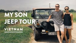 MY SON HOI AN JEEP ADVENTURES | UNESCO Sanctuary Temple Tour | Vietnam Travel Vlog 077, 2017