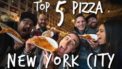 TOP 5 PIZZA PLACES IN NYC (collab with 5 other YouTubers)
