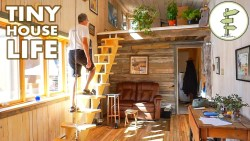 Tour a Spacious Open Concept Tiny House Parked in a Legal Community