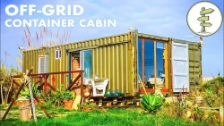 Used Shipping Containers Transformed Into an Epic Off-Grid Cabin