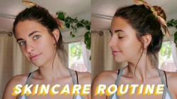 summer morning skincare routine
