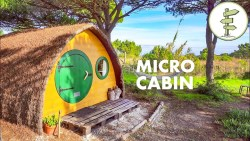 Extremely Tiny 100 ft² Off Grid Micro Cabin – Full Tour!