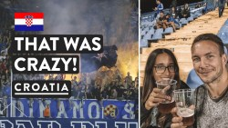 FIRE AT THE FOOTBALL 🔥| Bad Blue Boys Zagreb GNK Dinamo | Croatia Travel Vlog