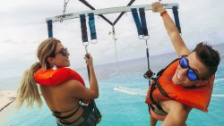 HANGING OUT IN THE CARIBBEAN (PARASAILING)
