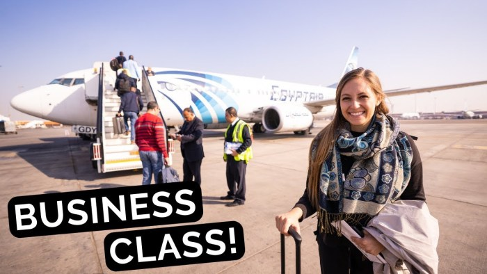 We Flew BUSINESS CLASS EgyptAir! | DUBAI to CAIRO EGYPT