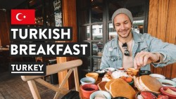 WE'RE IN TURKEY! Turkish Breakfast in Kadikoy | Istanbul Food & Travel Vlog