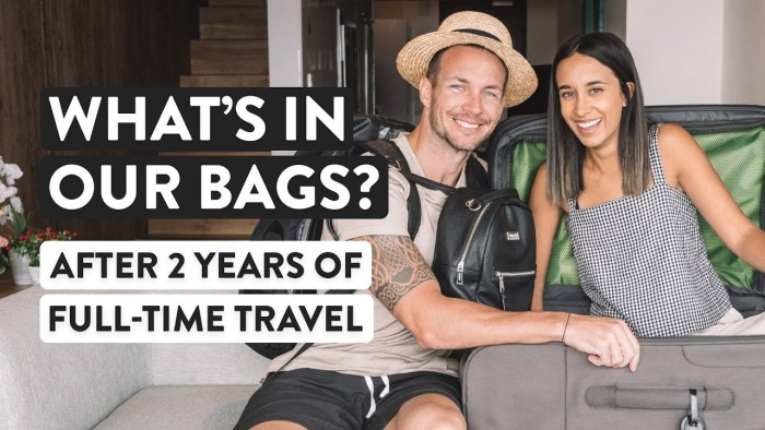 WHAT WE PACK FOR TRAVEL FULL-TIME | Minimalist travel bag packing