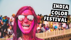AMERICANS PLAYING HOLI  in Vrindavan, India (Crazy Color Festival)