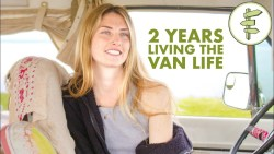 Van Life – Young Woman Living in a Van as Full-Time Tiny Home