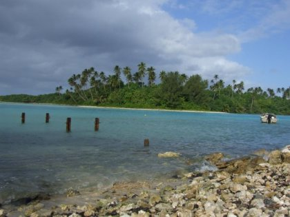 A different beach on Rarotonga