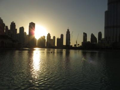 Sunset from Burj Khalifa Mall