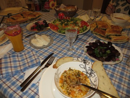 An amazing spread of food