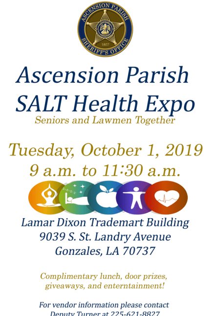 salt health expo, gonzales la