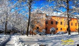 Ужгородський_замок зимою