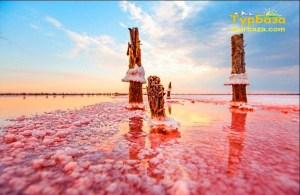 Лемурійське рожеве озеро Херсон