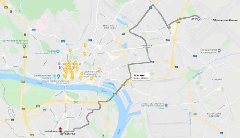 Аэропорт Братиславы - как добраться