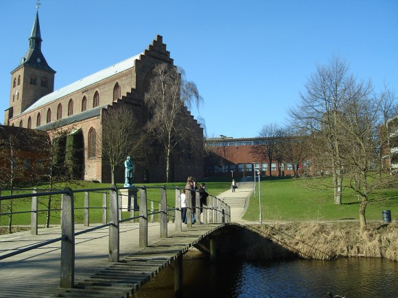 Odense_Cathedral_seen_from_Eventyrhaven