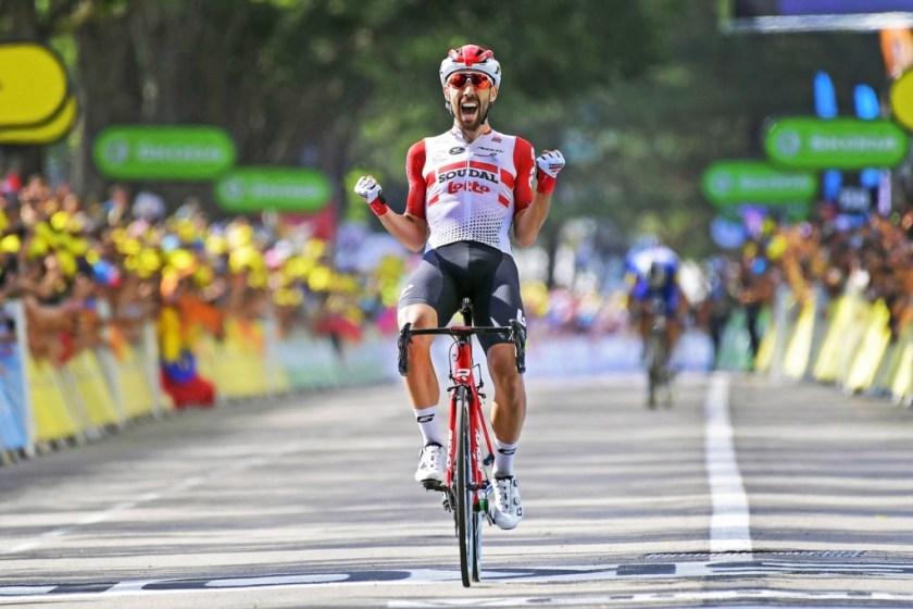 Thomas De Gendt wint rit in de Tour