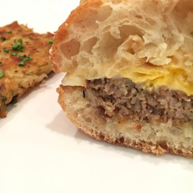 Breakfast Sandwich and hash browns from Maplewood
