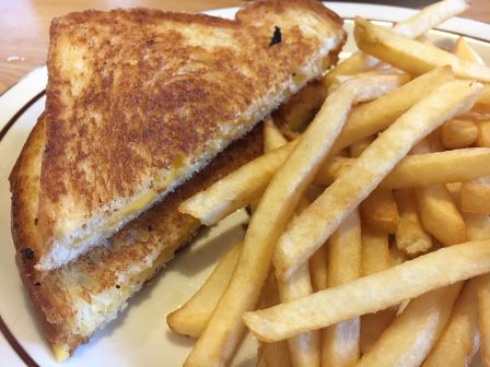 Grilled cheese and fries from Frisch's