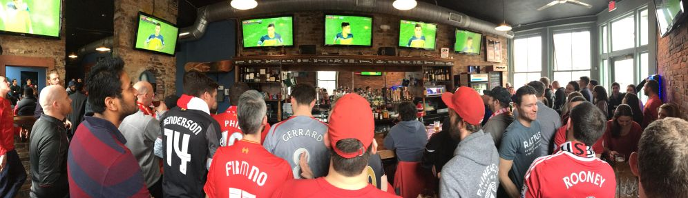 Watching Liverpool at Rhinehaus