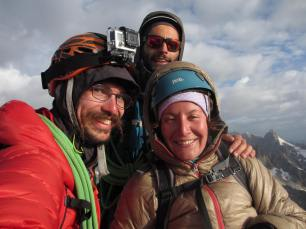 Au sommet, avec Gus, Dorine et Théophile
