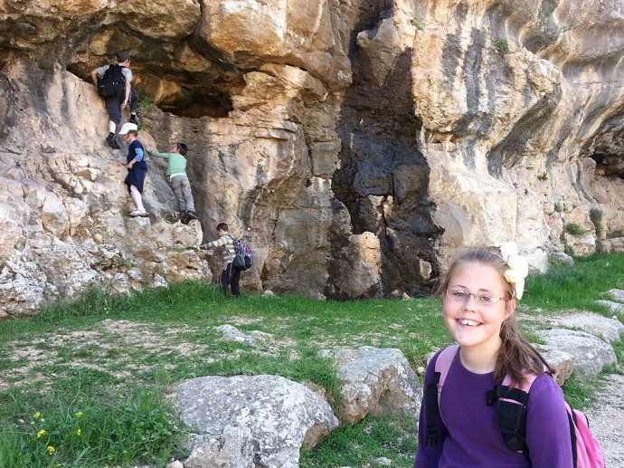 Climbing cliffs in the Ben Hinnom Valley