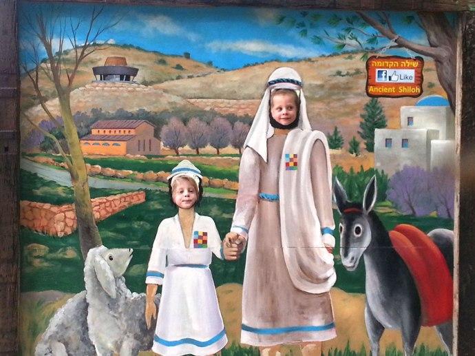 Posing as Israelites at Shiloh