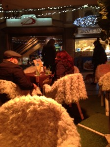 Madrid cafe keeping customers warm