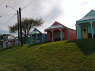 This are some new cabins that are similar to older Louisana homes.