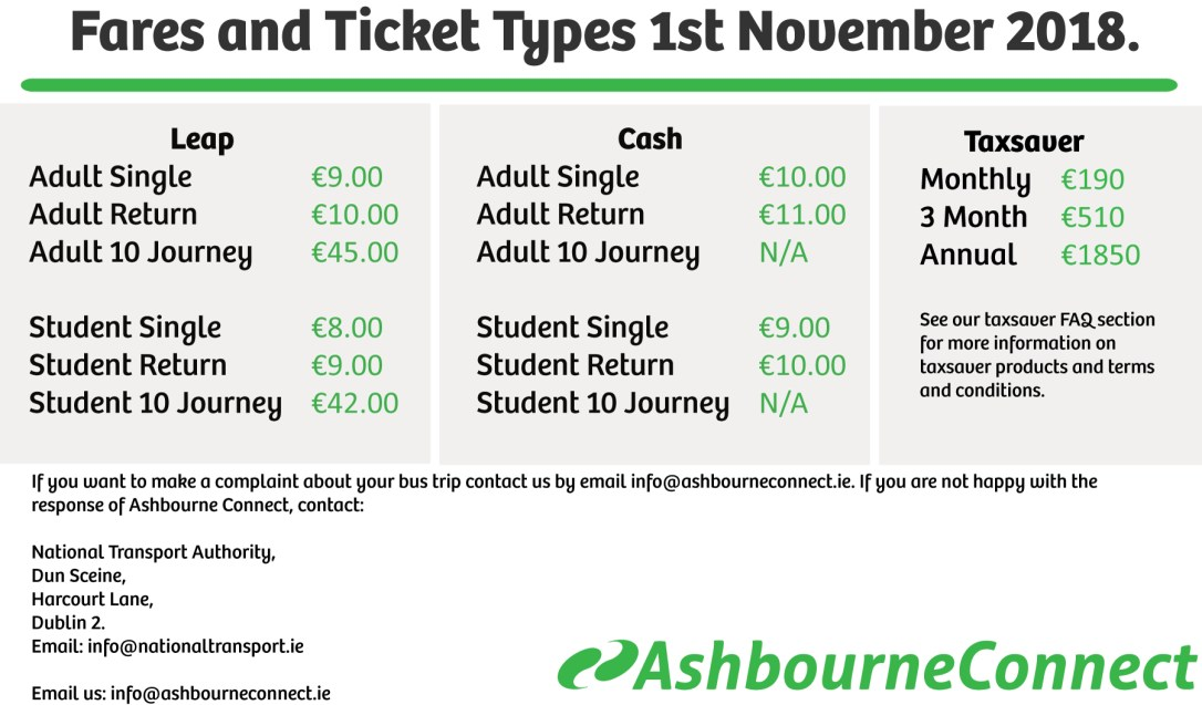 Welcome to Ashbourne Connect Daily Express bus service