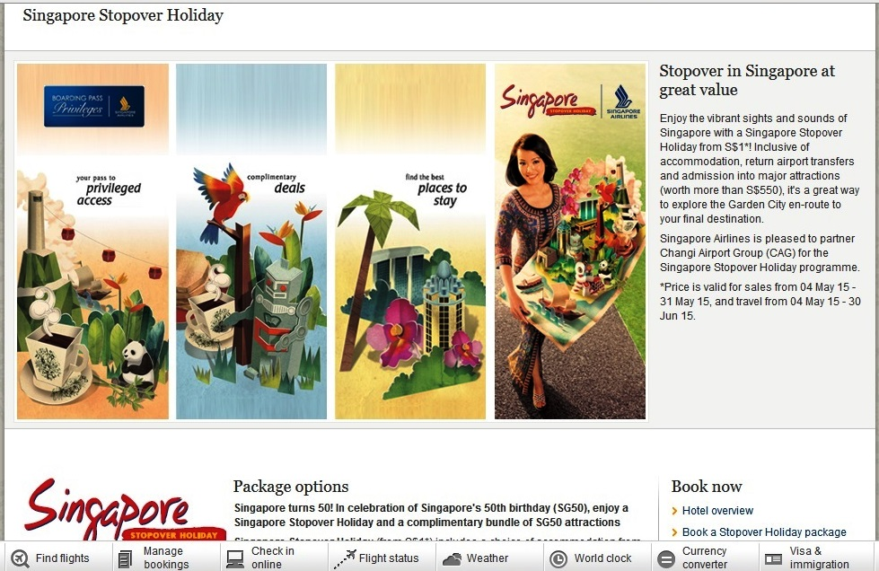 Promo Singapore Airlines International.