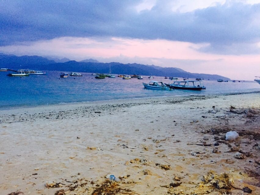 View of Lombok from Gili Trawangan