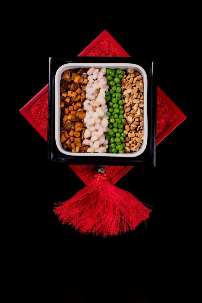 Traditional Shanghai Eight Treasures stewed ingredients