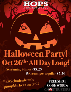 hops haloween party