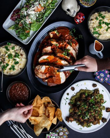 Selection of Mexican cuisine