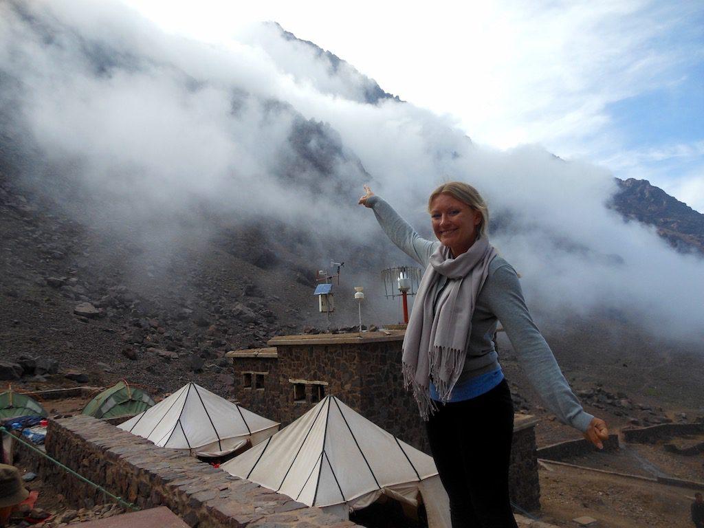 climb Mount Toubkal refuge
