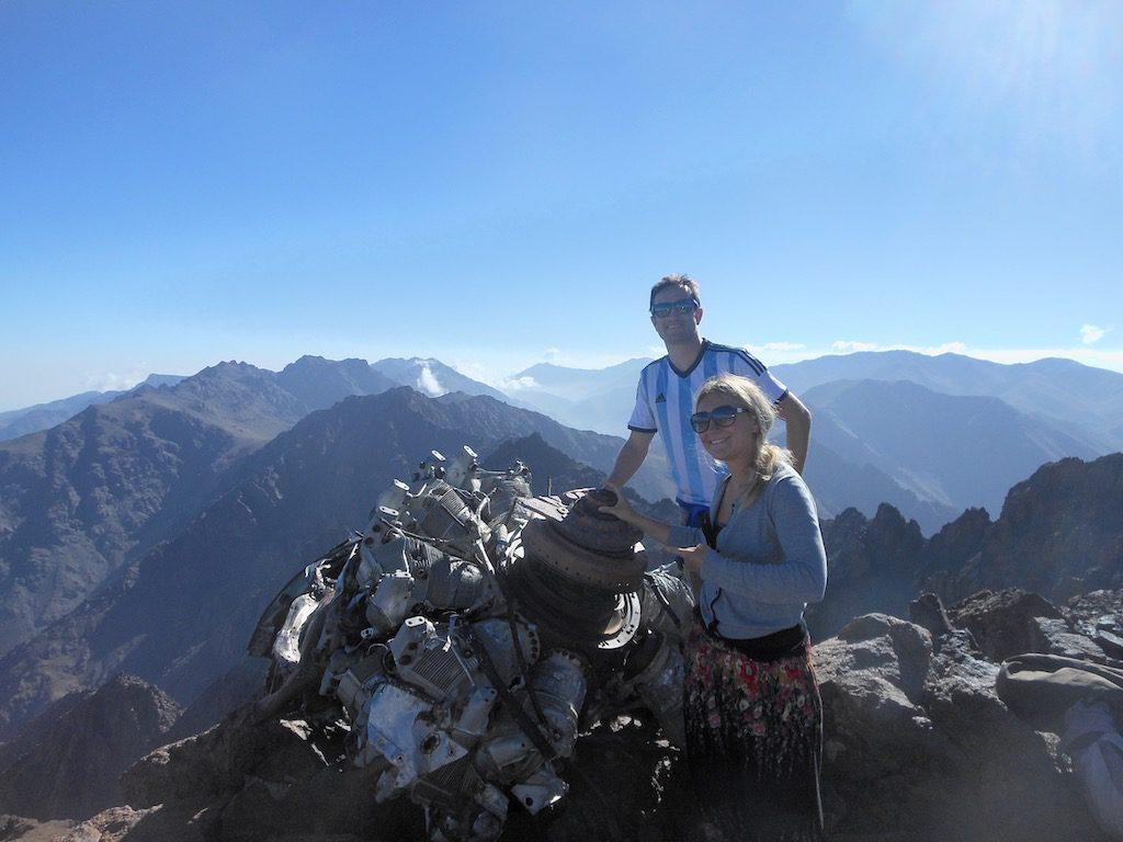 climb Mount Toubkal plane wreck