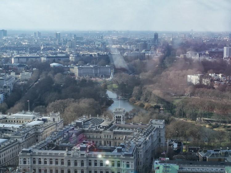 Buckingham Palace Vue du London Eye © Touristissimo
