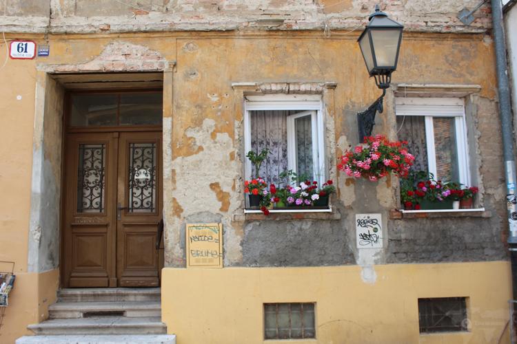 Les rues de la vieille ville de Zagreb