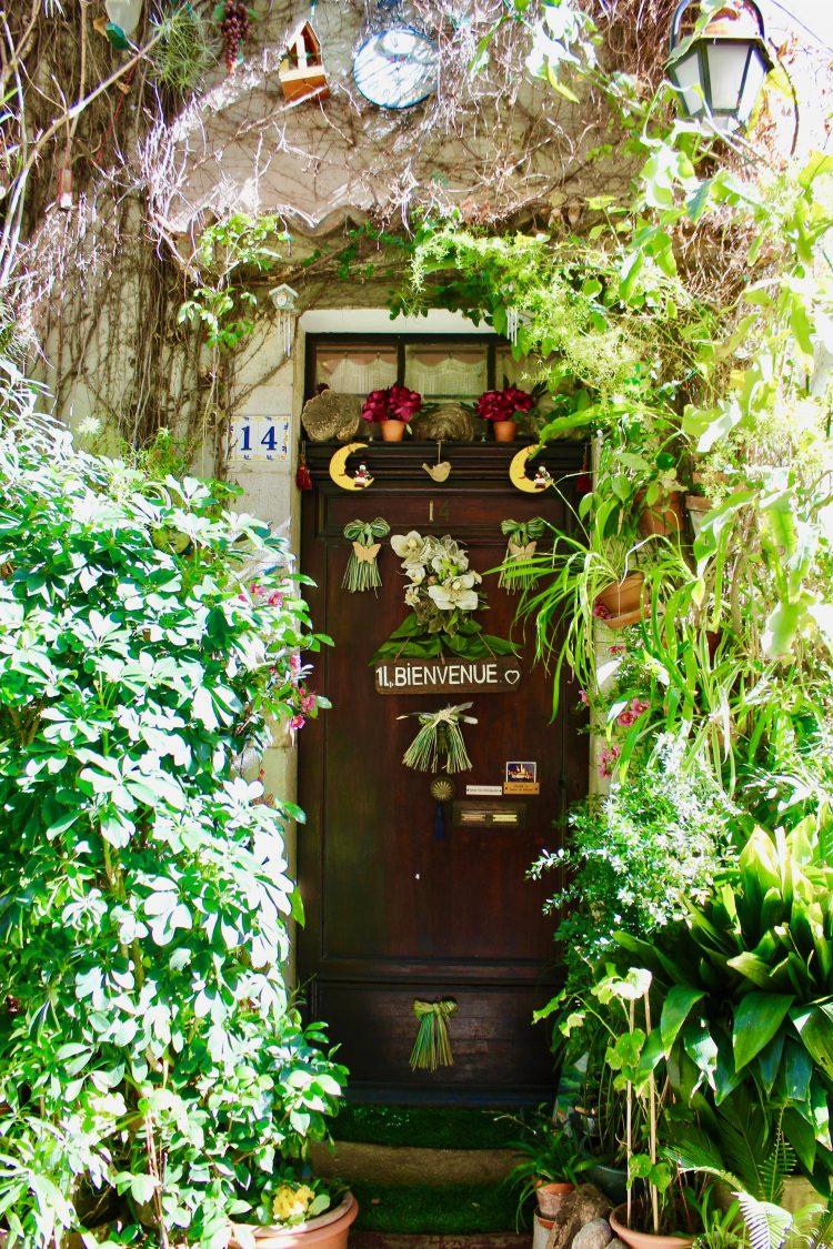 Une jolie porte fleurie à Antibes
