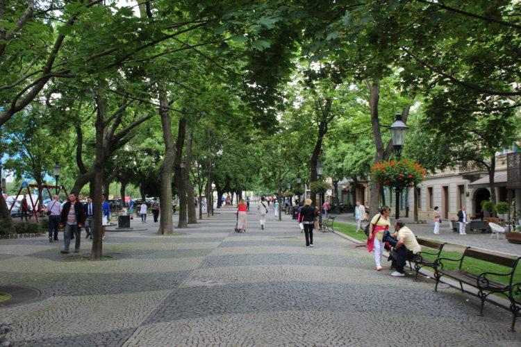 Un parc dans la ville de Bratislava