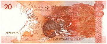 20 Philippine Peso Bill Back