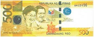 500 Philippine Peso Bill Font