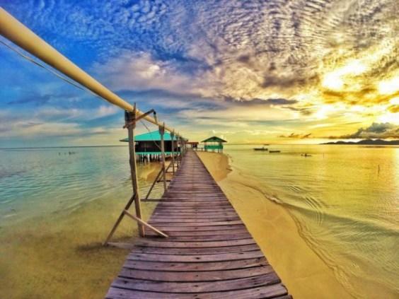 Sunset in Onuk Island