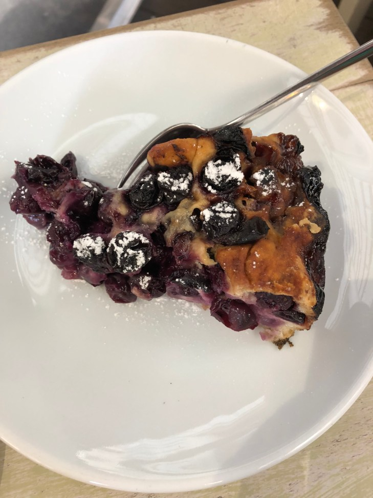 Blueberry pastry at Florence