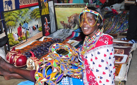 Maasai Market at the Village Market, image source: villagemarket-kenya.com