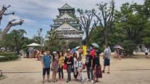 klien tour ke jepang di osaka castle summer juli 2015