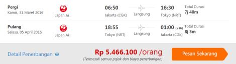 Promo Tiket Pesawat Japan Airlines ke Jepang