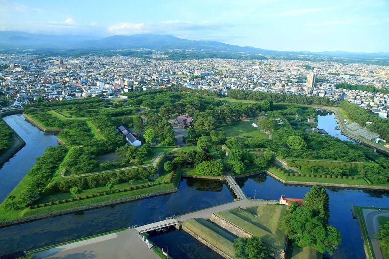 Hakodate Goryokaku Musim Panas di Hokkaido